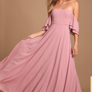Lulus Off Shoulder Maxi Gown